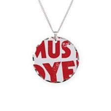 Spell Checker Must Dye Necklace Circle Charm
