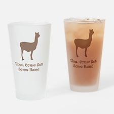 Tina Ham Brown Drinking Glass