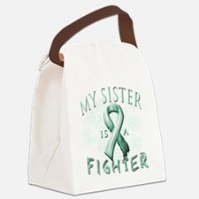 My Sister is a Fighter Teal Canvas Lunch Bag