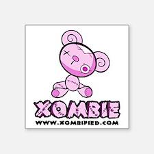 "pink_bear Square Sticker 3"" x 3"""