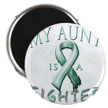 My Aunt is a Fighter Teal Magnet