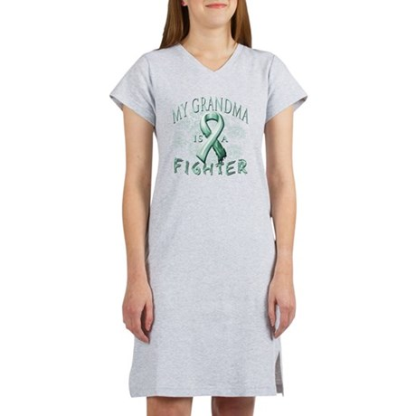 My Grandma is a Fighter Teal Women's Nightshirt