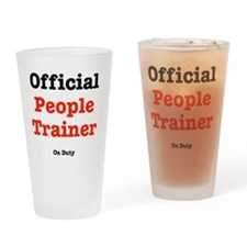 people-trainer-dog-shirt Drinking Glass
