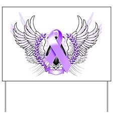 Awareness Tribal Purple Yard Sign