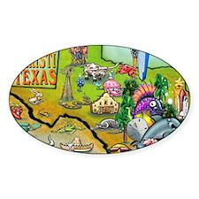 Corpus Christi TEXAS Map Card Decal