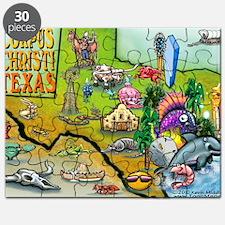 Corpus Christi TEXAS Map Card Puzzle