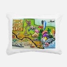 Corpus Christi TEXAS Map Rectangular Canvas Pillow