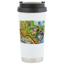 Corpus Christi TEXAS Map 11x17 Travel Mug