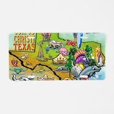 Corpus Christi TEXAS Map 11 Aluminum License Plate