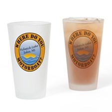 where do you motorboat logo Drinking Glass