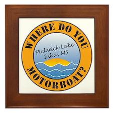 where do you motorboat logo Framed Tile