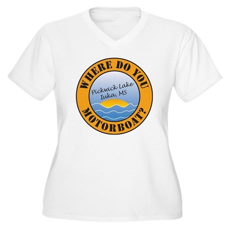 where do you moto Women's Plus Size V-Neck T-Shirt