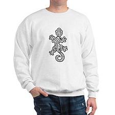 Ethnic Lizard Black Sweatshirt