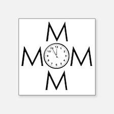 "2-MOMOM1CLOCK Square Sticker 3"" x 3"""