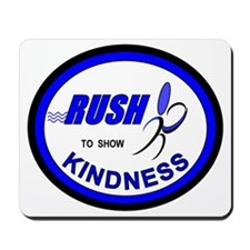 2-RUSH.BLUE-Oval Mousepad