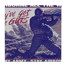 airborne_poster Tile Coaster