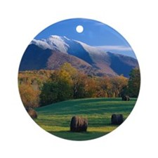 Mt. Mansifield Round Ornament