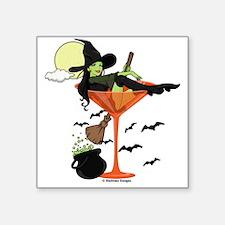 """Halloween Martini Square Sticker 3"""" x 3"""""""