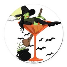Halloween Martini Round Car Magnet