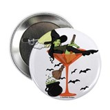 Witch martini Buttons