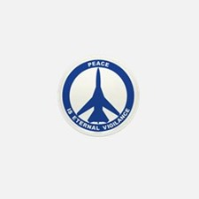 Peace Is Eternal Vigilance - FB-111 Bl Mini Button