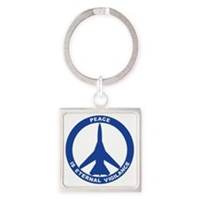 Peace Is Eternal Vigilance - FB-11 Square Keychain