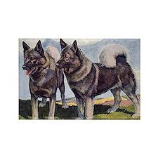 FIN-norwegian-elkhound-GREETCD Rectangle Magnet