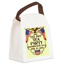 taxdayteaparty2010_button Canvas Lunch Bag