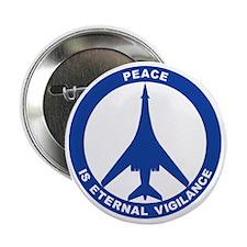 "Peace Is Eternal Vigilance - B-1B Blu 2.25"" Button"
