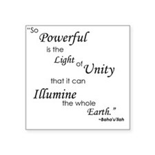 "So Powerful is the Light of Square Sticker 3"" x 3"""