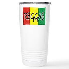 Reggae flag burlap crush-faded Travel Mug