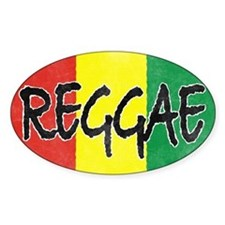 Reggae flag burlap crush-faded Decal