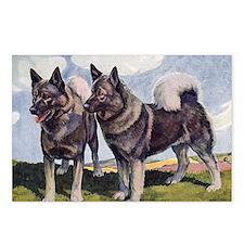 FIN-norwegian-elkhound-CR Postcards (Package of 8)