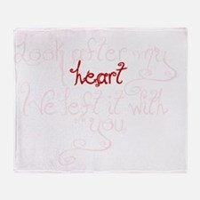 Look after my heart Throw Blanket