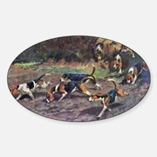 Beagle Painting Sticker (Oval)