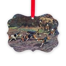 Beagle Painting Ornament