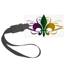 fleur-de-lis-swirls_color Luggage Tag