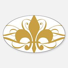 fleur-de-lis-swirls_light Sticker (Oval)