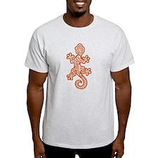 Ethnic Lizard Orange T-Shirt