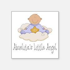 "abuelitas angel boy Square Sticker 3"" x 3"""
