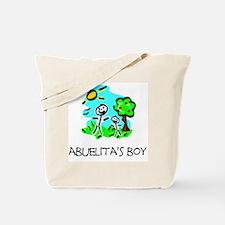 abuelitas boy stick figure Tote Bag