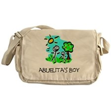 abuelitas boy stick figure Messenger Bag