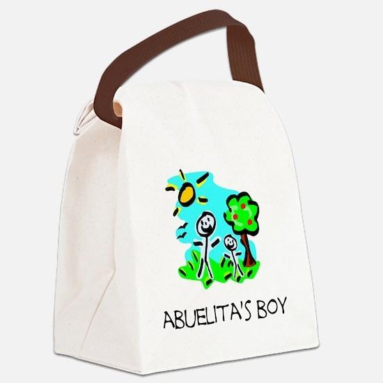 abuelitas boy stick figure Canvas Lunch Bag