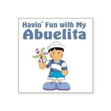 "fun with abuelita Square Sticker 3"" x 3"""