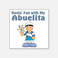 """fun with abuelita Square Sticker 3"""" x 3"""""""