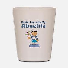 fun with abuelita Shot Glass
