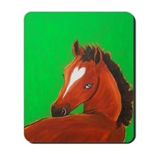 Brown Horse Valentino Mousepad