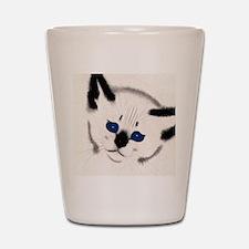 FIN-siamese-watercolor-ORN Shot Glass