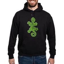 Ethnic Lizard Green Hoodie