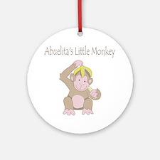 little monkey Round Ornament